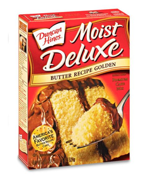 duncan hines moist deluxe butter recipe golden premium cake mix
