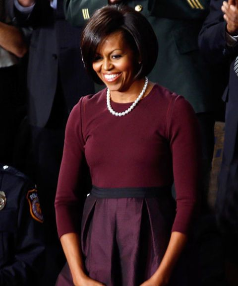 michelle obama purple dress