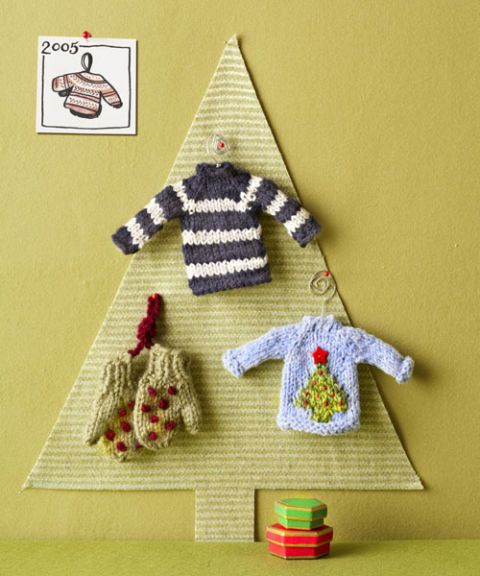 knit sweater ornaments