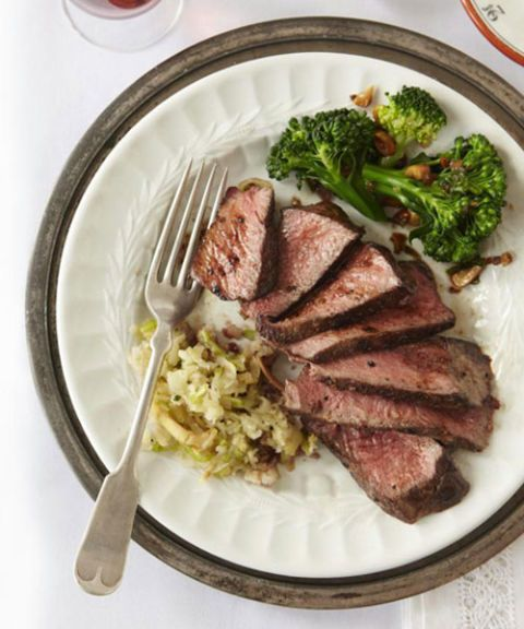 steak with apple horseradish relish
