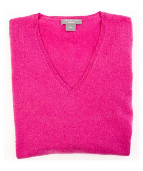 Ann Taylor V-Neck Cashmere Sweater