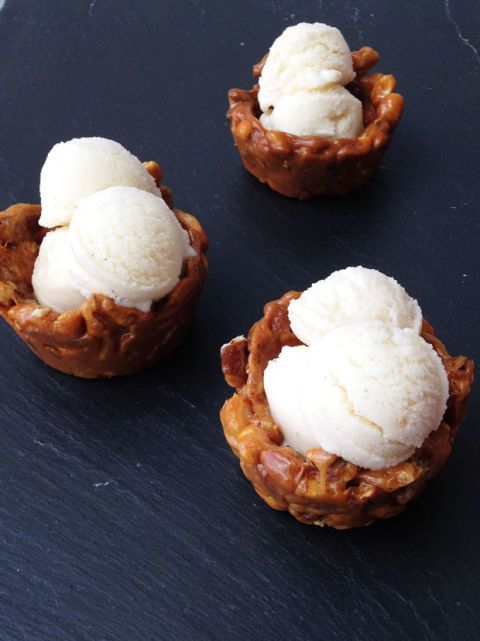 Nut Ice Cream Bowls