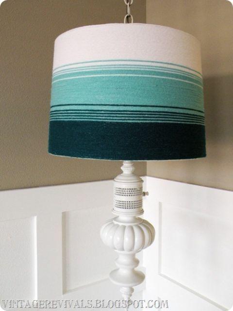 Diy Lamp Shade Makeovers Home Craft Ideas, Aqua Blue Lamp Shades
