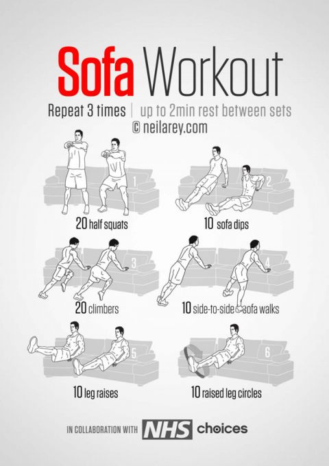 easy couch exercises