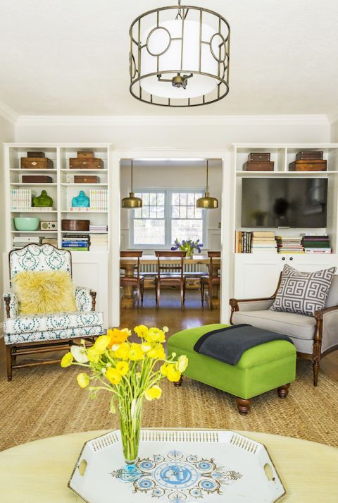 Room, Interior design, Green, Yellow, Wood, Living room, Furniture, Home, White, Floor,