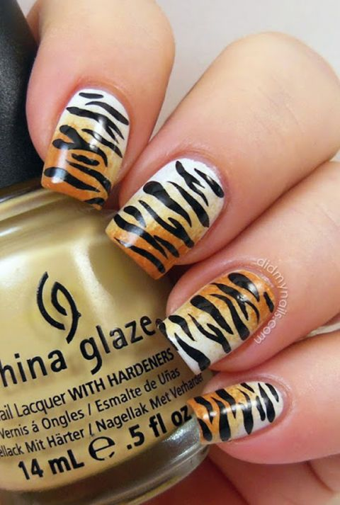 Animal Print Nail Art - Manicure Ideas With Leopard and Animal Print