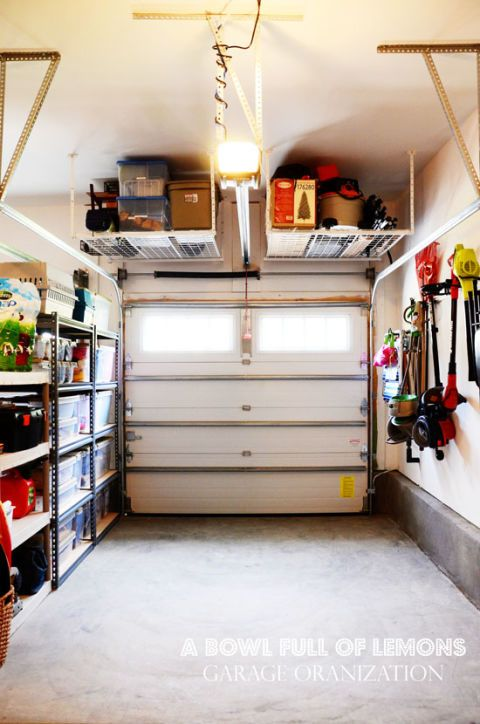 organizing tips - garage storage