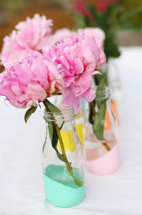 Decorate A Glass Vase Glass Vase Crafts