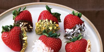double dipped chocolate strawberries