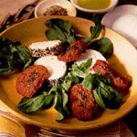 Tomatoes, Goat Cheese and Arugula Salad