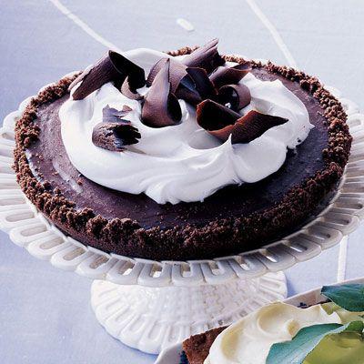 no bake chocolate fudge tart