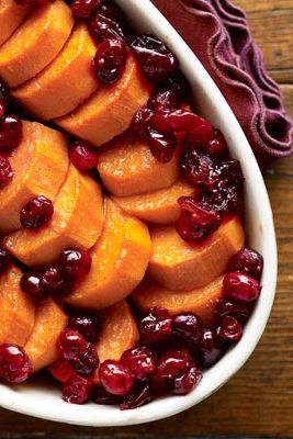 maple cranberry sweet potatoes
