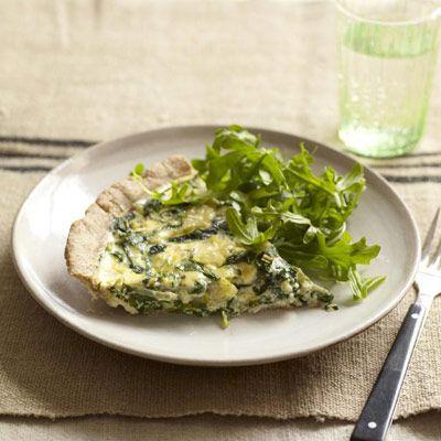 healthier spinach quiche
