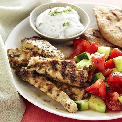 Greek Chicken Pitas Recipe