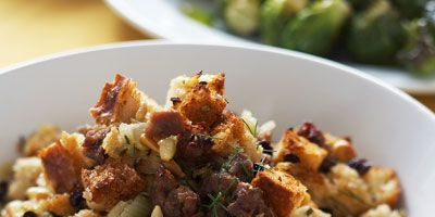 Sausage Stuffing With Fennel Pine Nuts And Currants Recipe