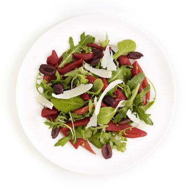 arugula and olive salad