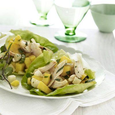 mango chicken lettuce wraps