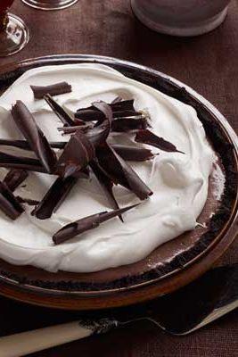 black bottom chocolate cream pie