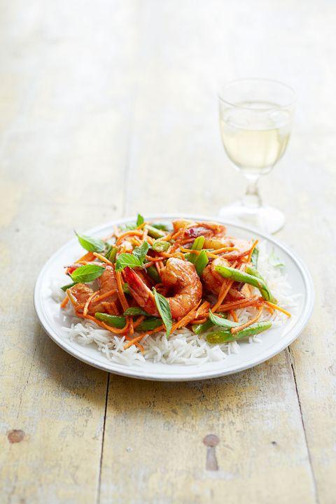 thai shrimp and green bean curry