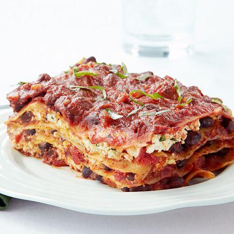 Cheeseless Black Bean Lasagna - Vegan Recipes