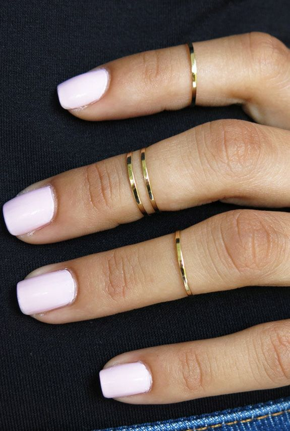 Gold Jewelry Manicures - Nail Polish Colors That Match With Gold Jewelry