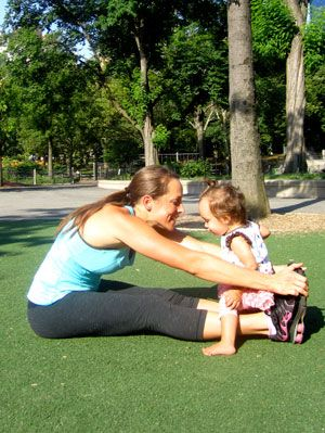 Mom and Baby Exercising