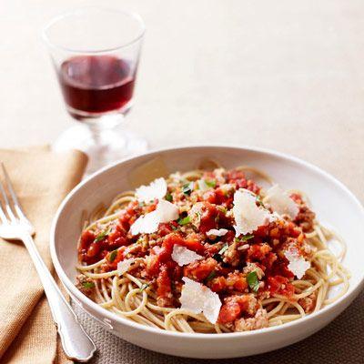 turkey spaghetti bolognese