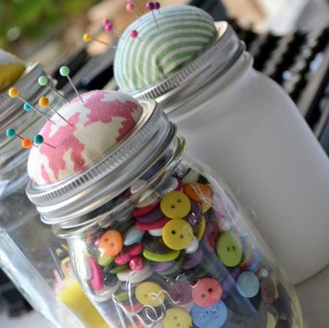 Mason Jar Craft -Sewing Organizer