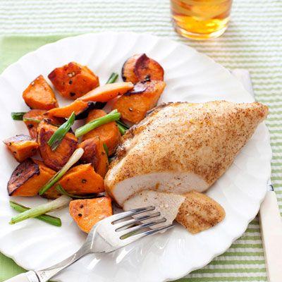 jamaican jerk chicken with sweet potatoes