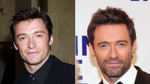 celebrities aging backwards - hugh jackman