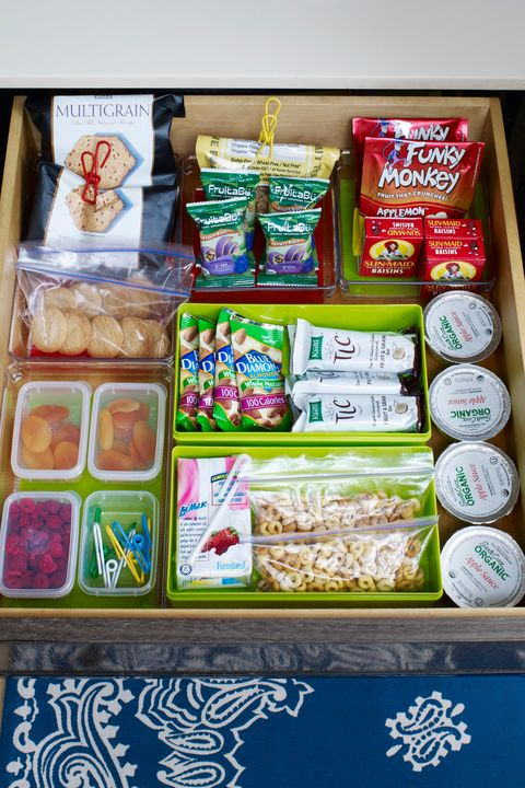 snack packages in drawer