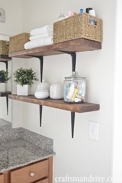 15 Small Bathroom Storage Ideas - Wall Storage Solutions and Shelves ...