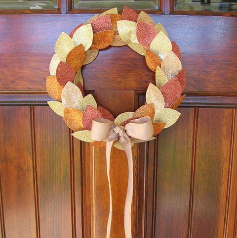Fall Wreaths - Glitter Leaf Wreath