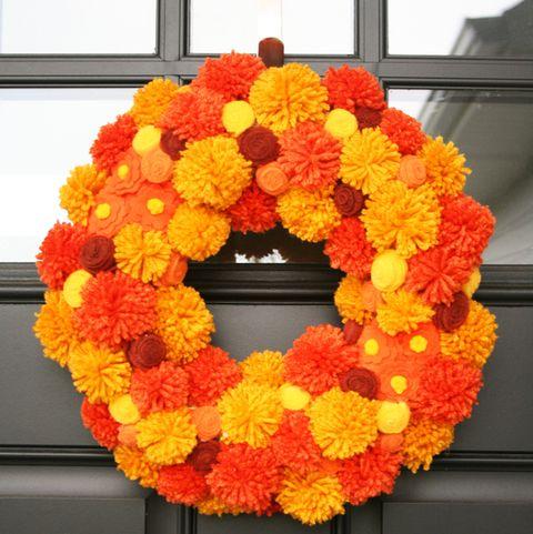 Fall Wreaths - Pom Pom Wreath