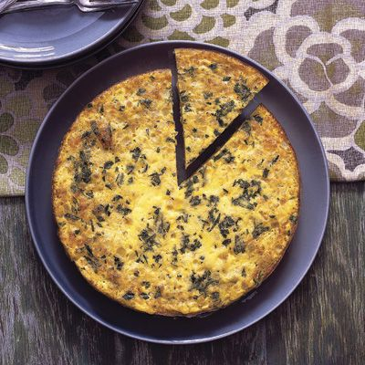 southwestern rice and corn frittata