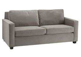 We Love That This Sofa Looks Streamlined, Yet Comfortable Enough To Sink  Back Into After A Long Day. It Comes Stocked In A Dove Grey Performance  Velvet, ...