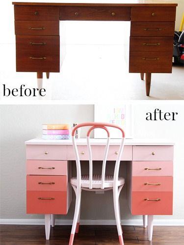 Ombre Desk Makeover