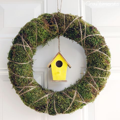 Spring Wreaths - Birdhouse Wreath