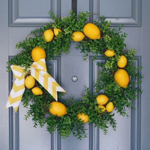 Spring Wreaths - Lemon Wreath