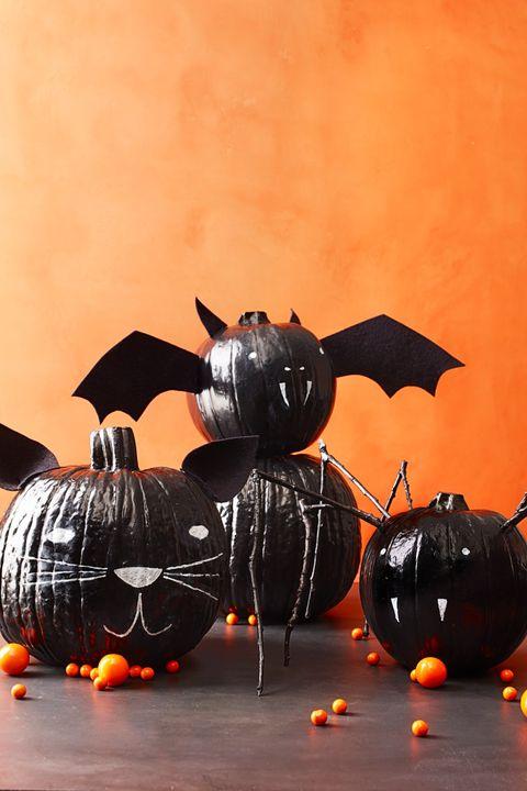 Black Painted Pumpkins Crafts