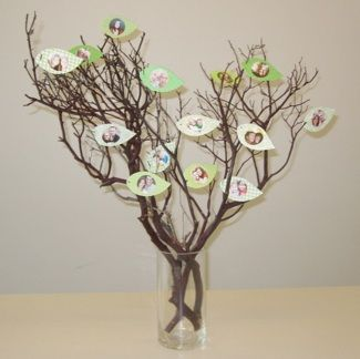 Family Tree Craft Project Family Tree Centerpiece Idea
