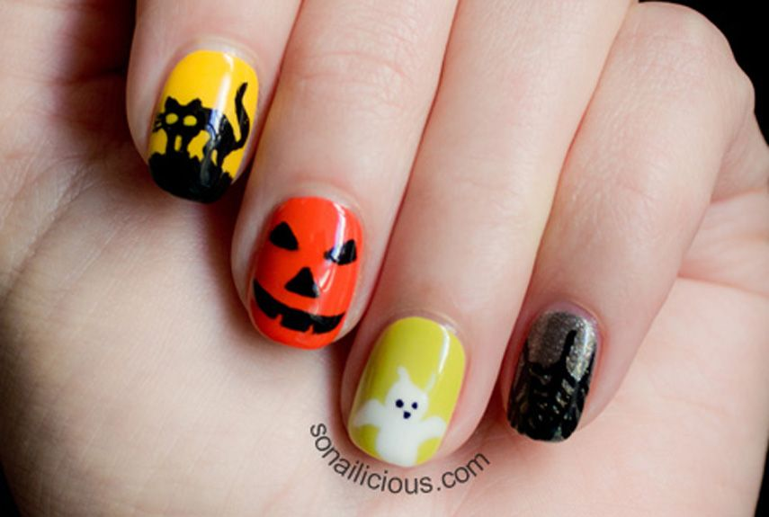 55+ Halloween Nail Art Ideas - Easy Halloween Nail Polish Designs