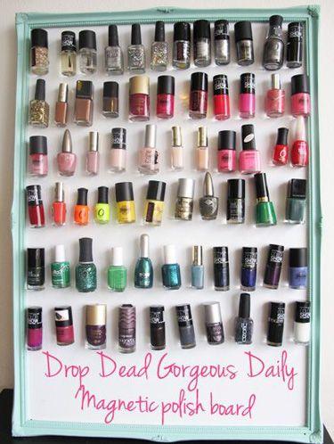 7 Ways to Organize Nail Polish