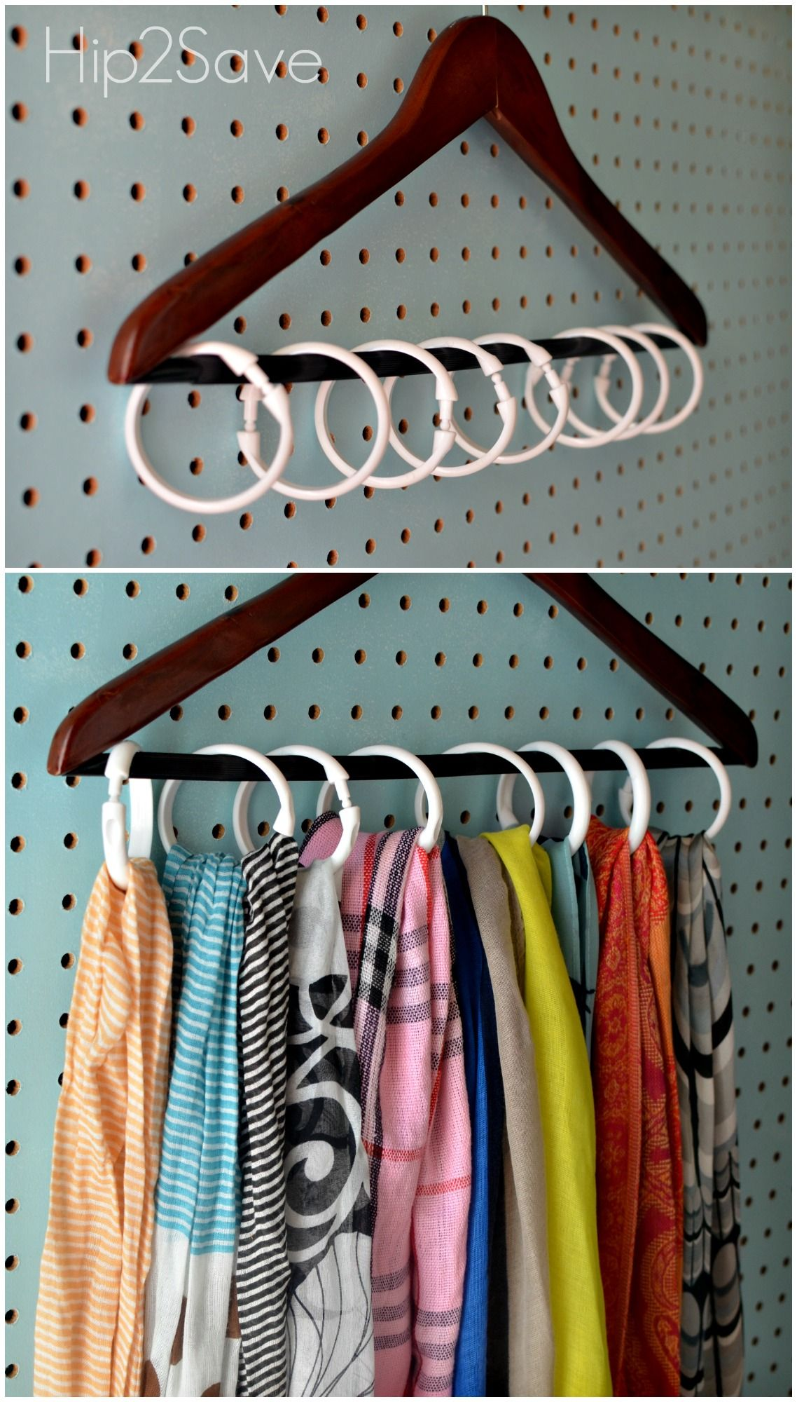 Shower Curtain Ring Organizing Ideas New Uses For Shower