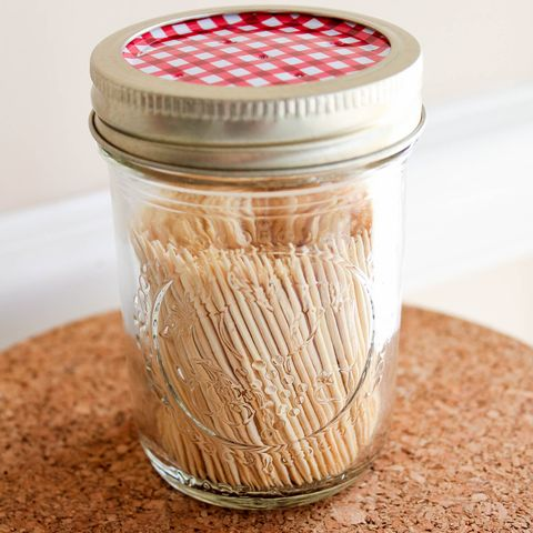 Mason Jar Crafts - Toothpick Dispenser