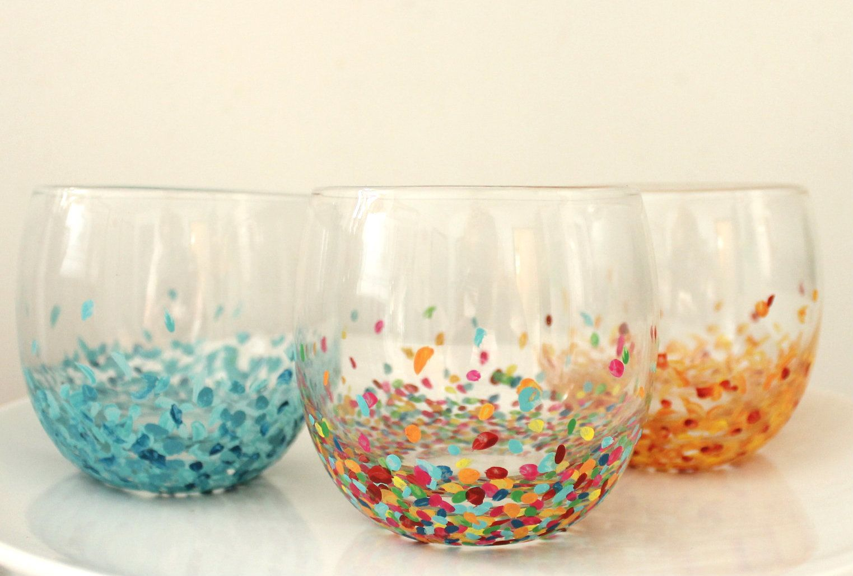 Drinking Glass Decorating Ideas Glassware