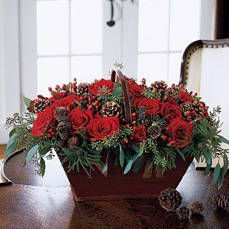 Pinecone Flower Basket