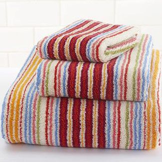 libby stripe towels