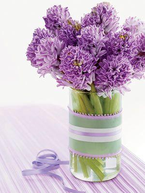 diy ribbon vase