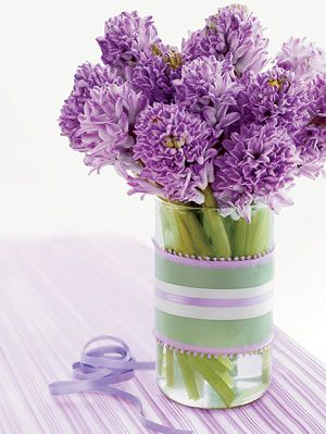 diy ribbon vase